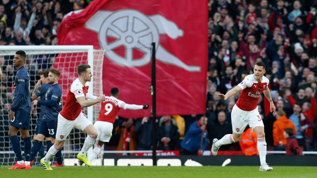 Unai Emery, senang Arsenal berhasil menang dari Manchester United.